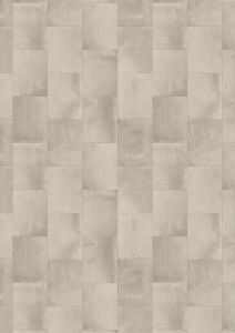Vinyylimatto Tarkett Essentials 260 Iron Tile Light Grey 4 m