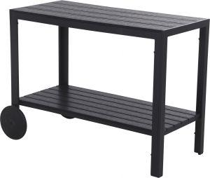 Tarjoiluvaunu musta 90 x 45 x 74 cm