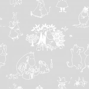 Kuitutapetti Moomin Juhlat