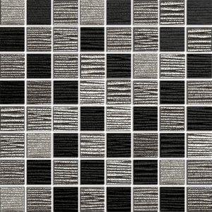 Mosaiikki Azteca Lines 30 musta