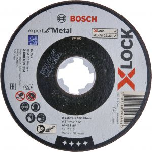 Katkaisulaikka Bosch X-LOCK Expert for Metal 125 mm 1,6 mm