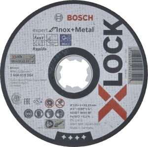 Katkaisulaikka Bosch X-LOCK Expert for Inox 125 mm