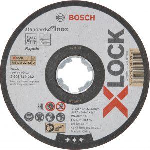 Katkaisulaikka Bosch X-LOCK XL STD Inox 125 mm 10 kpl