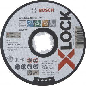 Katkaisulaikka Bosch X-LOCK Multi Material 125 mm