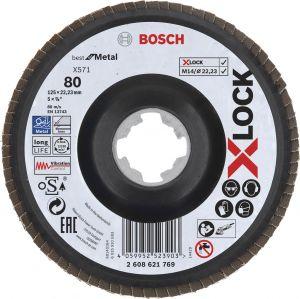 Tasoliuskalaikka Bosch X-LOCK Best for Metal 125 mm K80
