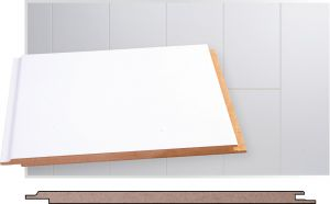 Kattopaneeli Maler MDF Valkoinen Puolikiiltävä STP 8 x 185 x 2070 mm