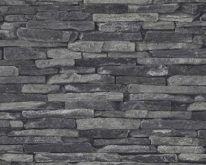 Kuitutapetti Wood`n Stone Kiviseinä Harmaa