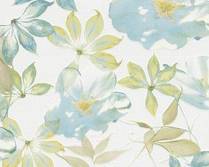 Kuitutapetti Esprit Kukka Sini-Vihreä
