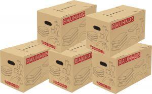 Setti 5 kpl Muuttolaatikko kirjoille BAUHAUS 58 x 33 x 33,5 cm