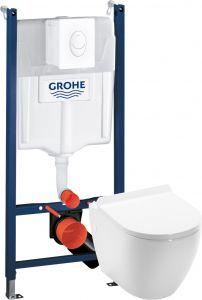 Setti: Seinä-WC asennusteline Grohe Rapid + Seinä-WC Camargue Rom + WC-istuinkansi Camargue Rom