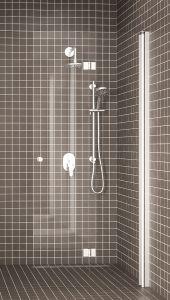 Taittuva suihkuseinä Hietakari Express 813 Kirkas