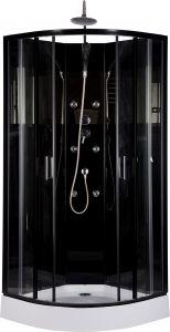 Suihkukaappi Harma Black Onyx 85 x 85 cm