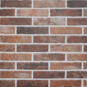 Seinä-/lattialaatta Living Brick Punainen 6 x 25 cm