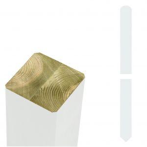 Tolppa Plus 6,8 x 6,8 x 157 cm Valkoinen