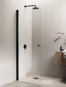 Kääntyvä suihkuseinä Vihtan Puro 3 rengasvedin kirkas musta