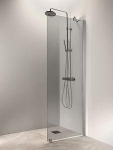 Kiinteä suihkuseinä Vihtan Puro 6 Harmaa Matta