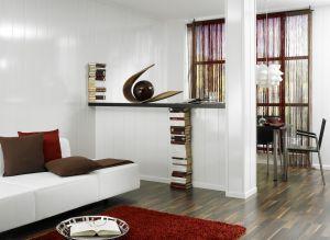 Paneeli MDF Decoration Valkoinen Korkeakiilto 10 x 202 x 2600