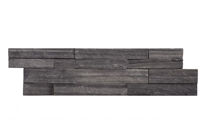 Luonnonkivilaatta Brick Musta 10 x 40 cm