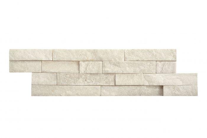 Luonnonkivilaatta Brick Valkoinen 10 x 40 cm