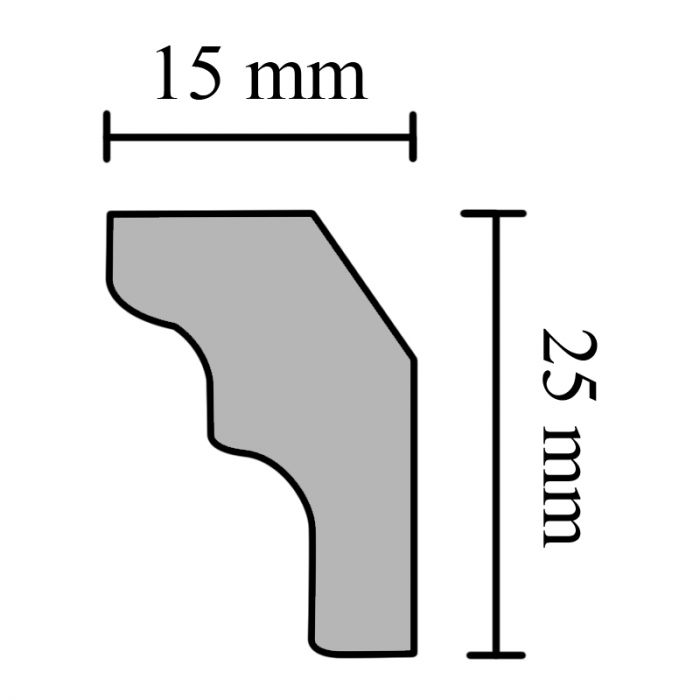 Koristelista Silvana 50 x 40 mm