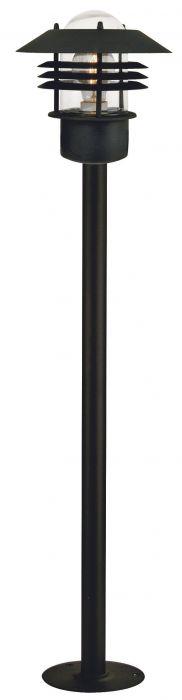 Pylväsvalaisin Nordlux Vejers musta IP54