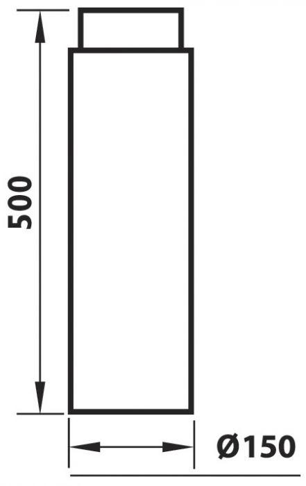 Liitosputki Aduro Musta 500 mm