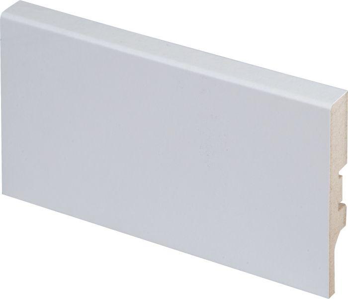 Jalkalista Maler MDF R2 Valkoinen 12 x 70 x 2750 mm