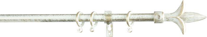 Verhotankosetti Gardinia Lily 160 – 300 cm Valkoinen/Kulta
