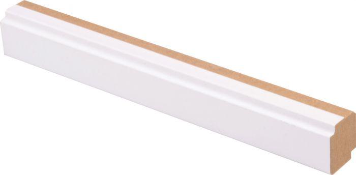 Varjolista Maler 16 x 19 x 2750 mm MDF puhdas valkoinen