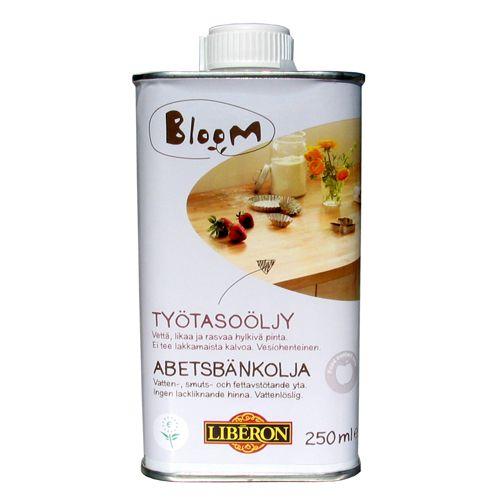 Työtasoöljy Bloom Väritön 250 ml