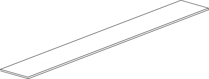 Hyllytaso Lundbergs 1800 x 550 x 16 mm Valkoinen