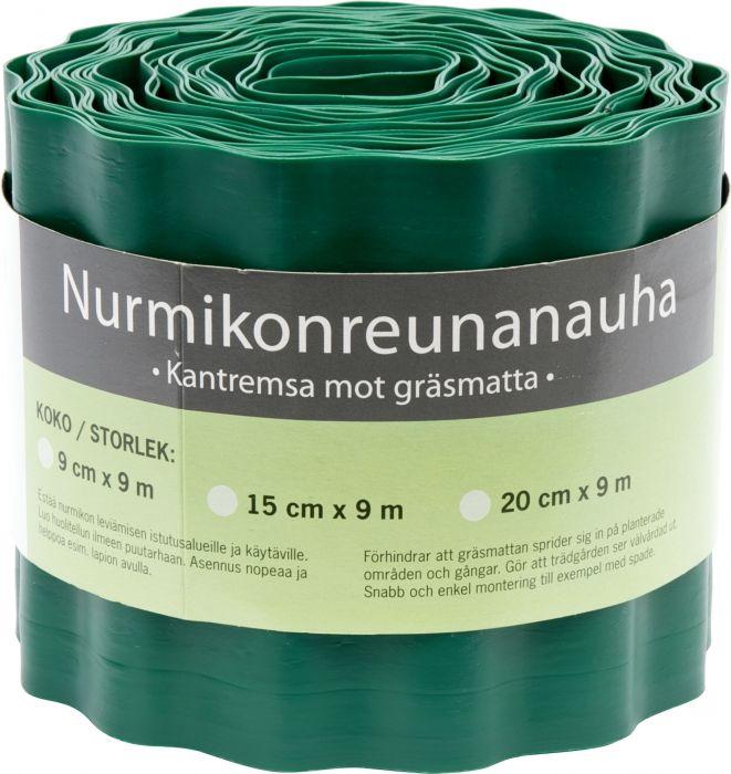 Nurmikon Reunanauha Vihreä 9 cm x 9 m