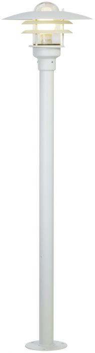Pylväsvalaisin Nordlux Lønstrup 32 IP44 Valkoinen