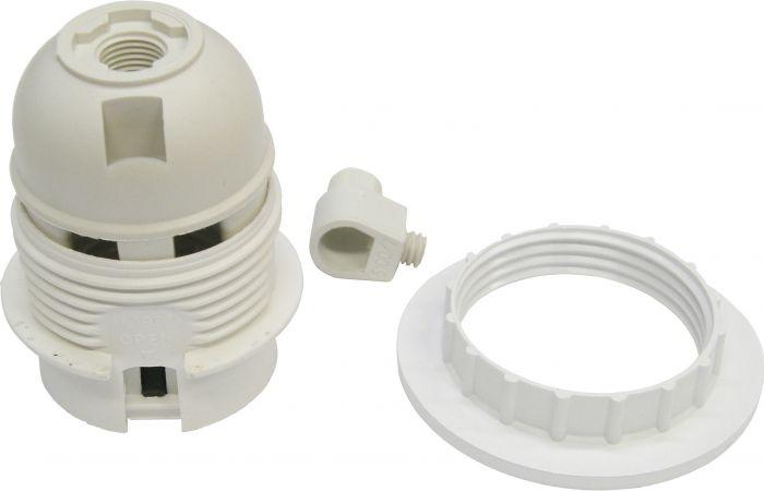 Lampunpidin ElectroGEAR E27 Kierteillä Valkoinen