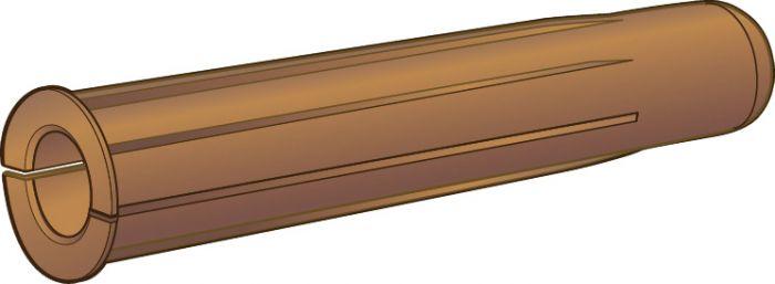 Muovitulppa Essve 8 x 40 mm Ruskea 6 Kpl