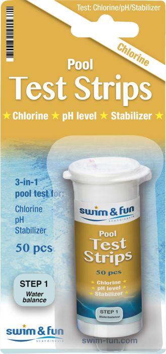 Kloori/pH-testeri Swim&Fun 50 kpl