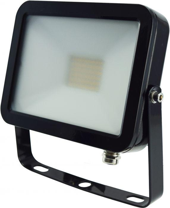 Litteä LED-Valonheitin ElectoGEAR 20 W Musta