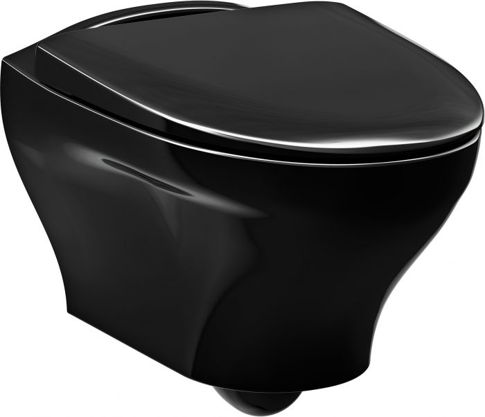 Seinä-WC Gustavsberg Estetic 8330 C+ Musta