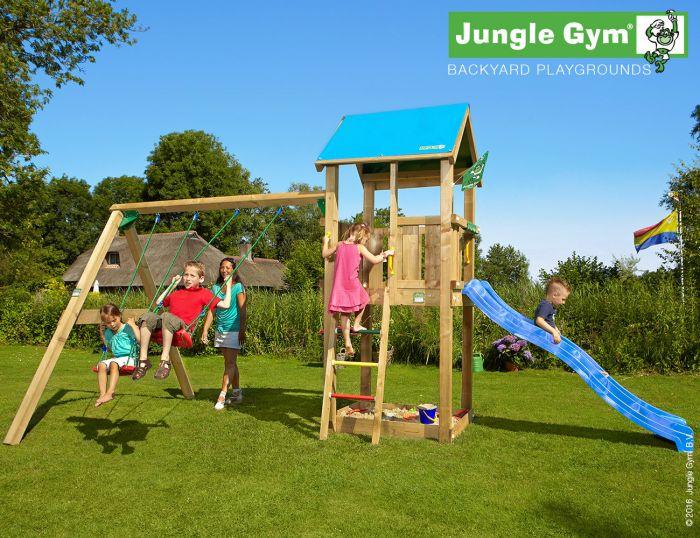 Leikkitorni Jungle Gym Castle + Swing Module Xtra