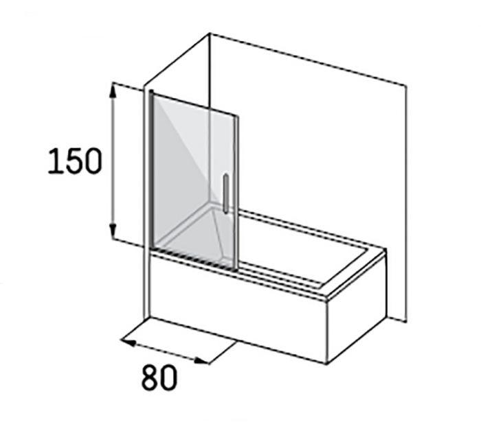 Magneettiprofiili (2 tk) Camargue Skaraborg Combi ammeseinälle 150 cm Kromi