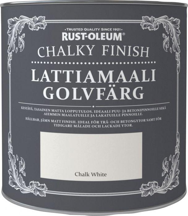 Lattiamaali Chalky Finish 2,5 l Chalk white