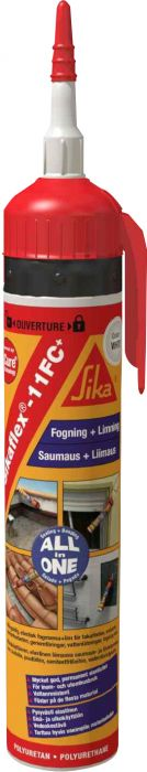 Liima- ja saumausmassa Sika Sikaflex-11 FC+ 195 ml Valkoinen