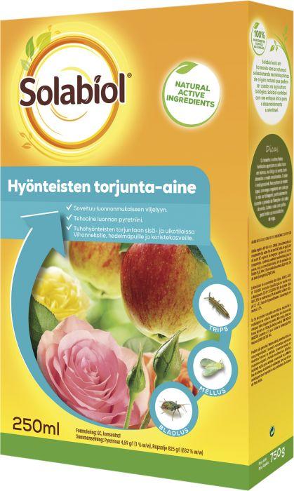 Hyönteisten torjunta-aine Solabiol 250 ml tiiviste