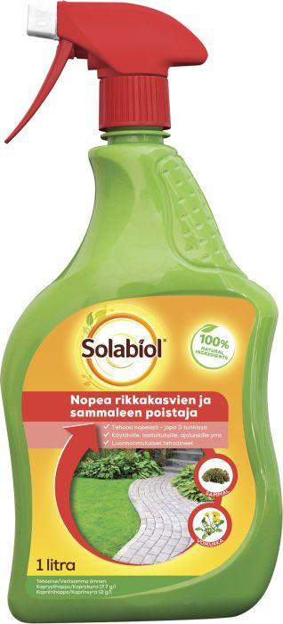 Rikkakasvien- ja sammaleenpoistaja Solabiol 1 l