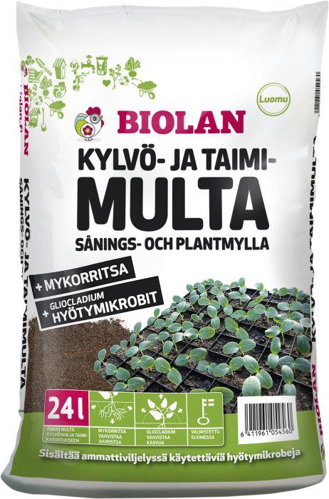 Kylvö- ja taimimulta Biolan 24 l