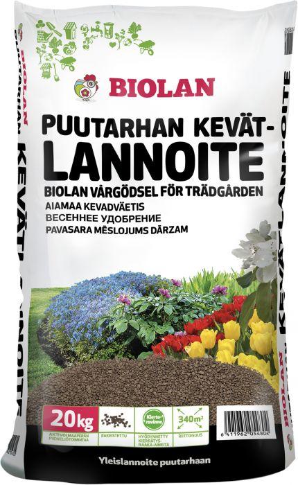 Puutarhan kevätlannoite Biolan 20 kg
