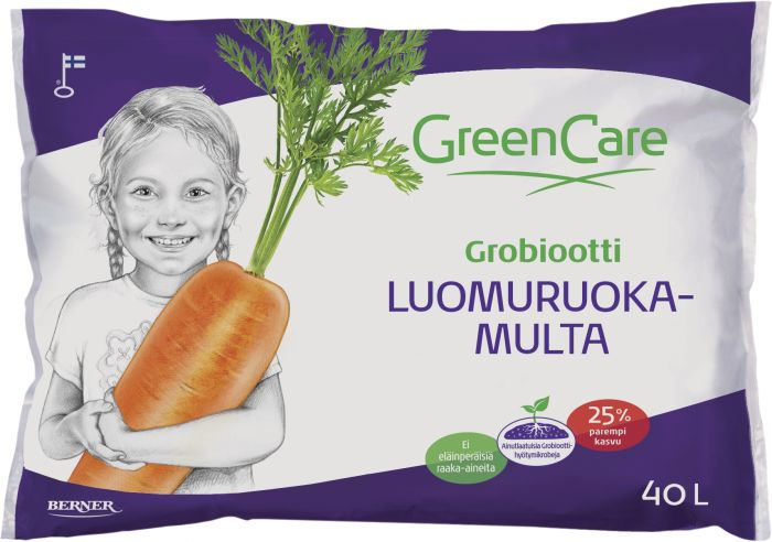 Luomuruokamulta Greencare 40 l
