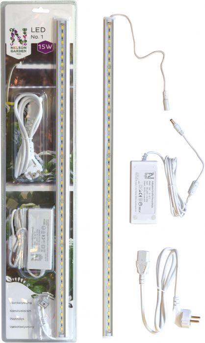Kasvivalaisin Nelson Garden LED-lista 15W muuntajalla