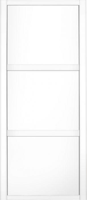 Liukuovi Lundbergs Nordic 610 x 2301 mm Valkoinen 3-peilinen