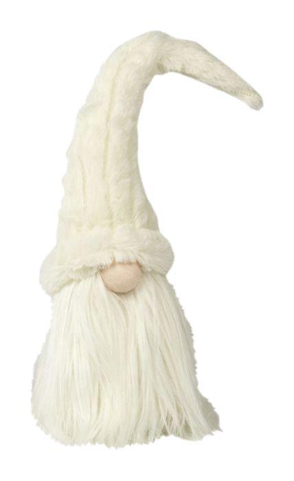 Tonttu valkoinen hattu 40 cm